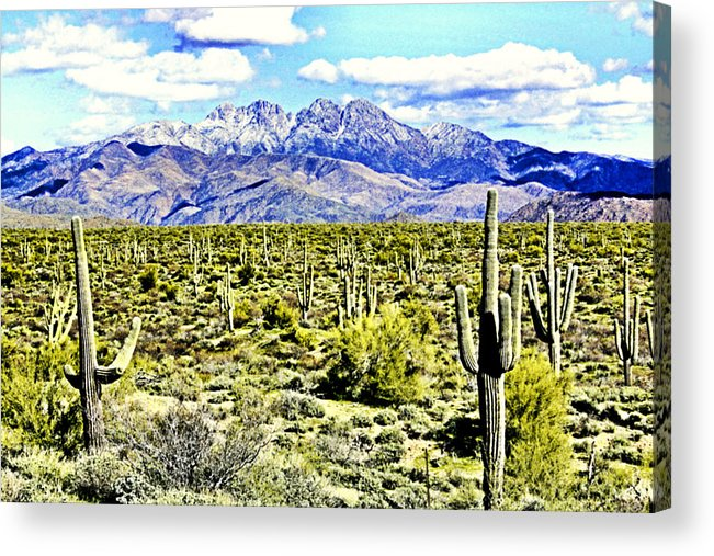 Photography Acrylic Print featuring the photograph Four Peaks by Sharon Broucek
