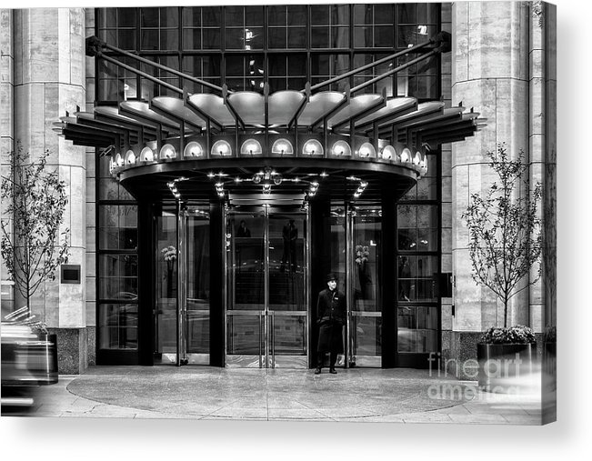 Symmetry Acrylic Print featuring the photograph Four Seasons Hotel New York by Edi Chen