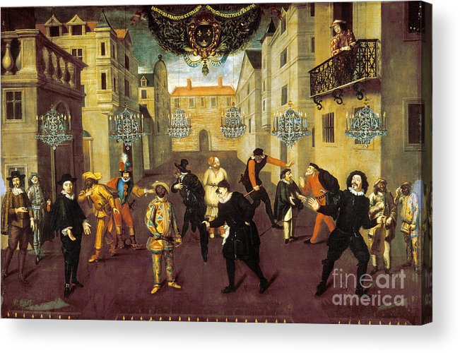 1670 Acrylic Print featuring the photograph France: Comedy, 1670 by Granger
