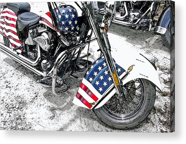 Motorcycle Acrylic Print featuring the photograph Freedom Rider by Suzanne Gaff