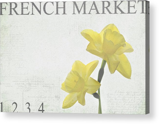 Market Acrylic Print featuring the photograph French Market Series B by Rebecca Cozart