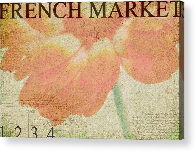Orange Acrylic Print featuring the photograph French Market Series E by Rebecca Cozart