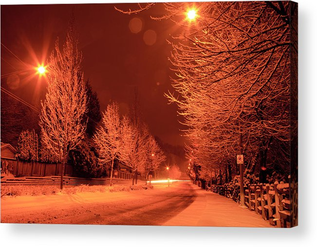 Snow Acrylic Print featuring the photograph Fresh Morning Snow by Monte Arnold
