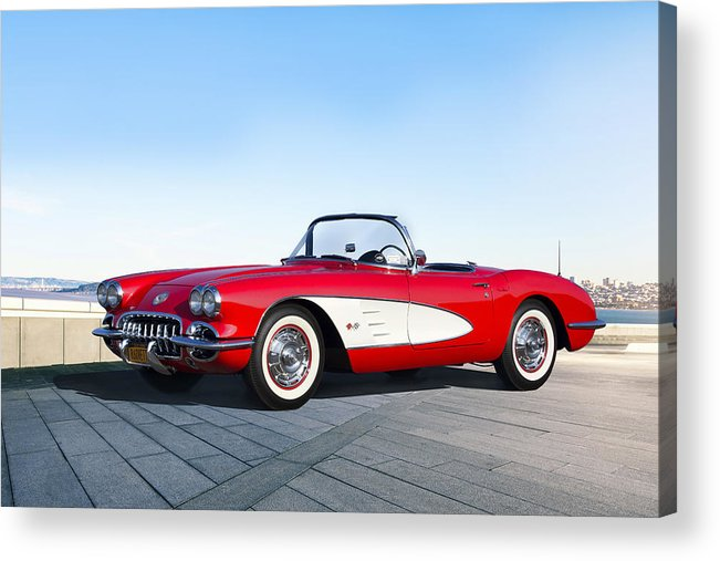 Chevrolet Acrylic Print featuring the digital art Game Of Chrome by Peter Chilelli