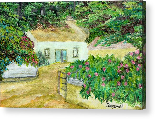 Garden Acrylic Print featuring the painting Garden by Cary Singewald