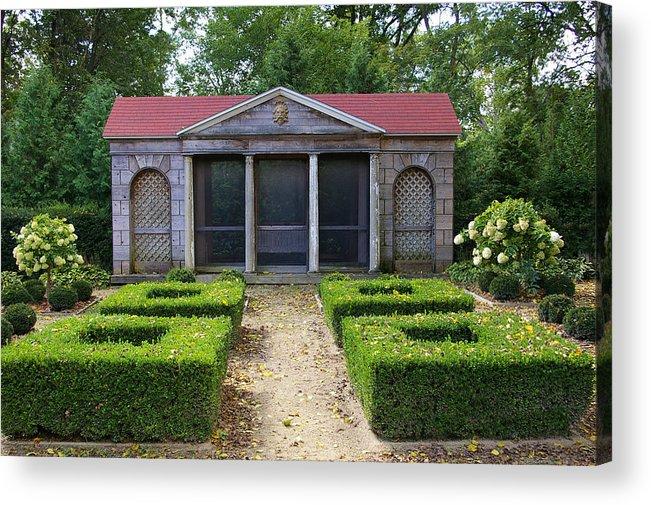 Garden House Acrylic Print featuring the photograph Garden House by Tom Reynen