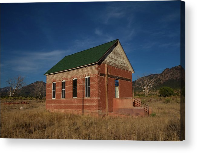 2016 Acrylic Print featuring the photograph Garden Park School, Fremont County, Colorado by Bridget Calip