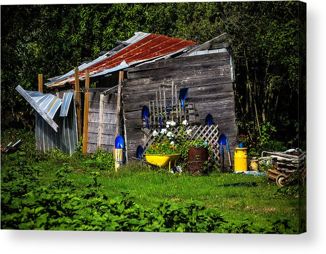 garden oregon acrylic print featuring the photograph garden tool shed by garry gay - Garden Tool Shed