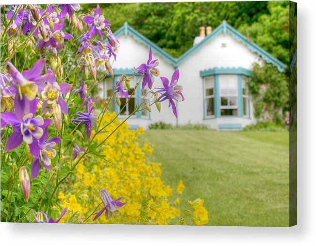 Garden Acrylic Print featuring the photograph Gardener's Cottage At The Walled Victorian Gardens Of Kylemore by Deborah Squires