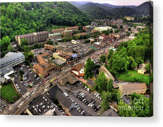 Gatlinburg Tennessee Acrylic Print featuring the photograph Gatlinburg Tennessee by Michael Eingle