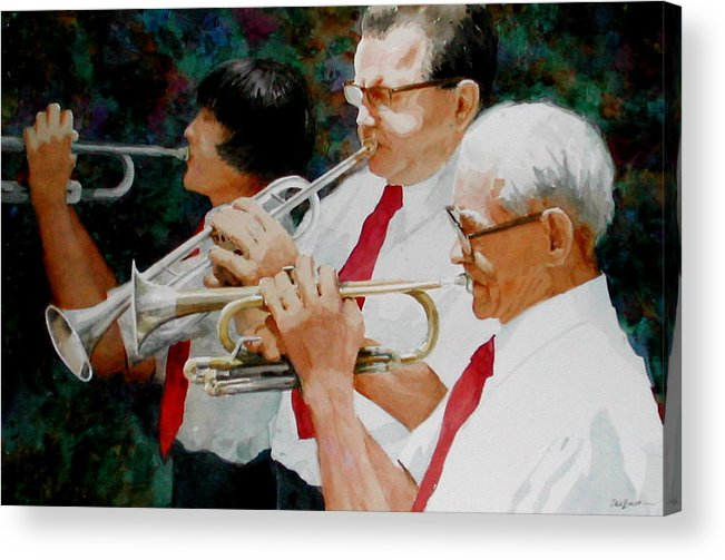 Music Acrylic Print featuring the painting Generations by Faye Ziegler
