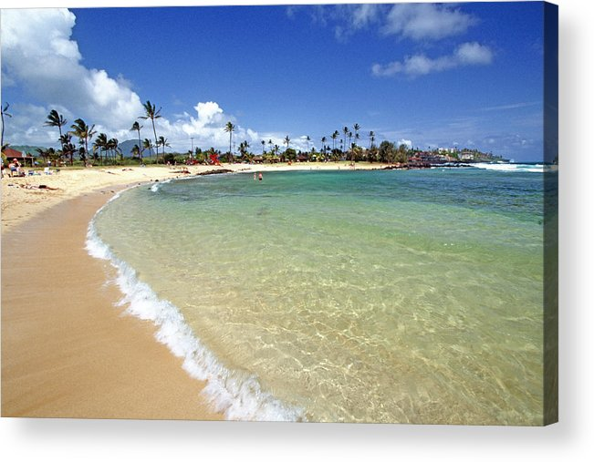 Beach Acrylic Print featuring the photograph Gentle Wave On A Beach by George Oze