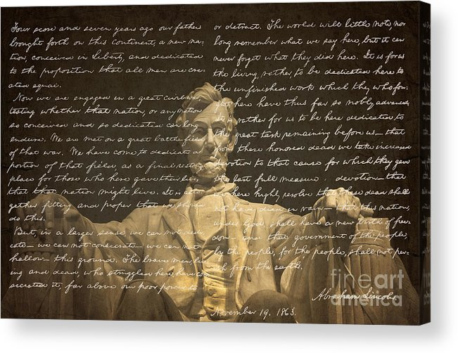 Gettysburg Address Acrylic Print featuring the photograph Gettysburg Address by Diane Diederich