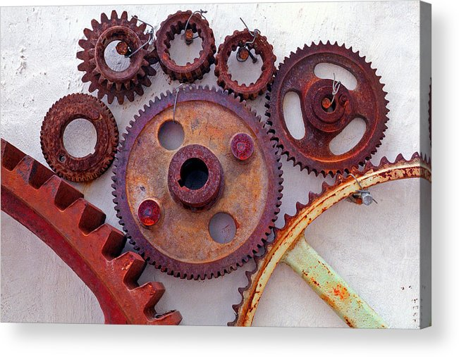 Gears Acrylic Print featuring the photograph Ghost by Skip Hunt
