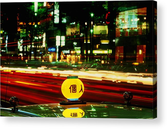 Travel Acrylic Print featuring the photograph Ginza Tokyo Night by Brad Rickerby