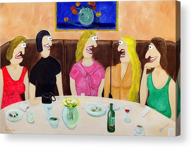 Funism Paintings Acrylic Print featuring the painting Girls Night Out by Sal Marino