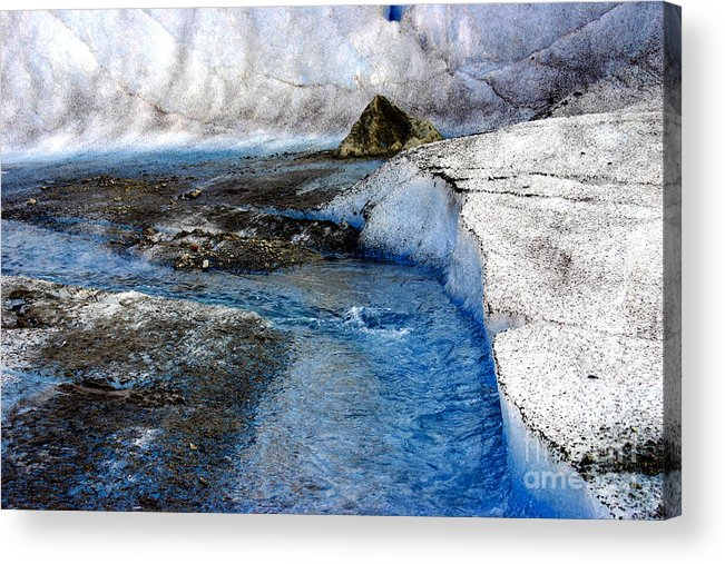 Glacier Acrylic Print featuring the photograph Glacial Stream by Valerie Fuqua