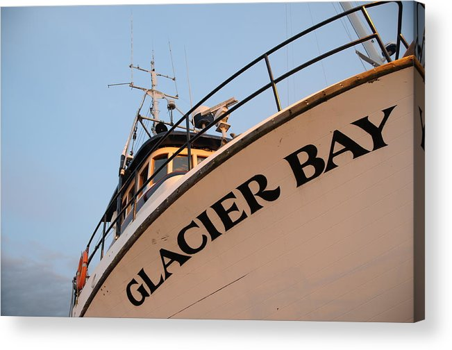 Fishing Acrylic Print featuring the photograph Glacier Bay by Alasdair Turner