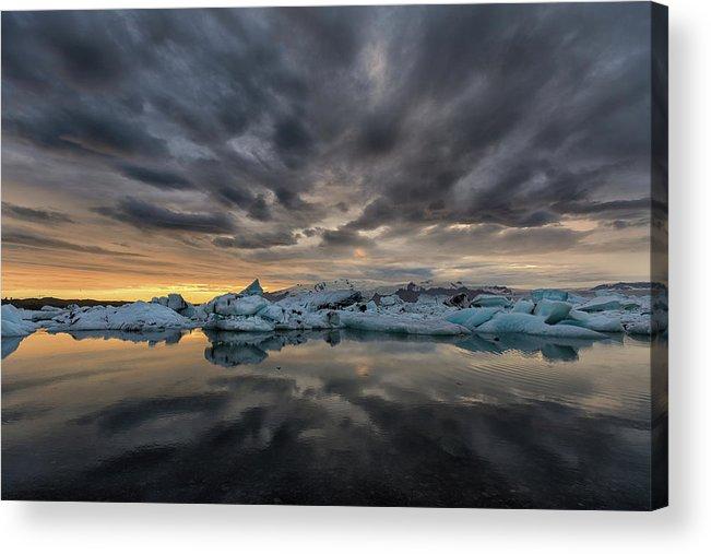 Glacier Lagoon Acrylic Print featuring the photograph Glacier Lagoon by Bragi Kort