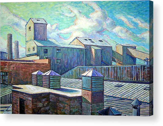 Cityscape Acrylic Print featuring the painting Gladding Mcbean by Gary Symington
