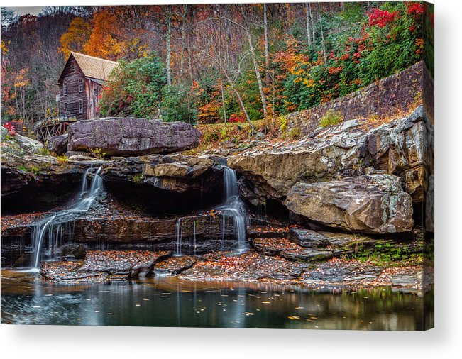 Landscape Acrylic Print featuring the photograph Glade Crist Mill by Steven Hirsch