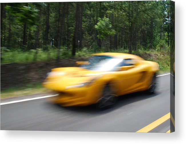Motion Acrylic Print featuring the photograph Going-gone by Renee Holder