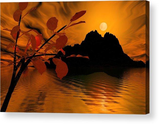 Landscape Acrylic Print featuring the digital art Golden Slumber Fills My Dreams. by David Lane