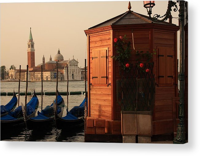 Venice Acrylic Print featuring the photograph Gondal Station At San Marco by Michael Henderson