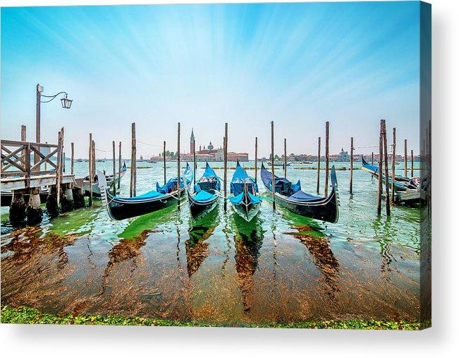 Sea Acrylic Print featuring the photograph Gondola by Ivan Vukelic
