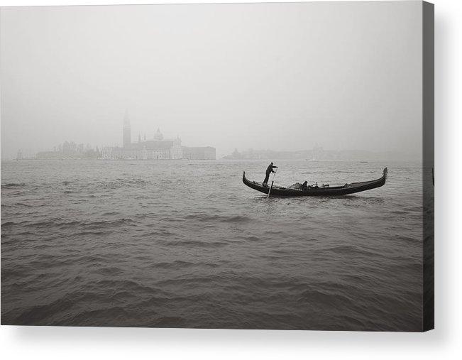 Venice Acrylic Print featuring the photograph Gondola Nella Nebbia 193042x by Marco Missiaja