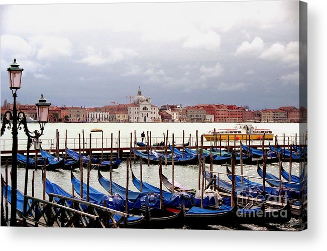 Venice Acrylic Print featuring the photograph Gondolas In Venice by Michael Henderson