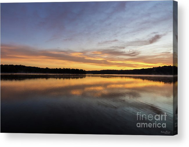 America Acrylic Print featuring the photograph Good Morning Lake Springfield by Jennifer White