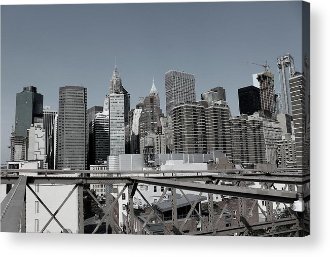 Gotham Acrylic Print featuring the photograph Gotham City by Nadia Asfar