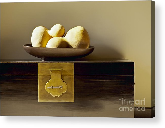 Beige Acrylic Print featuring the photograph Gourds Still Life I by Kyle Rothenborg - Printscapes
