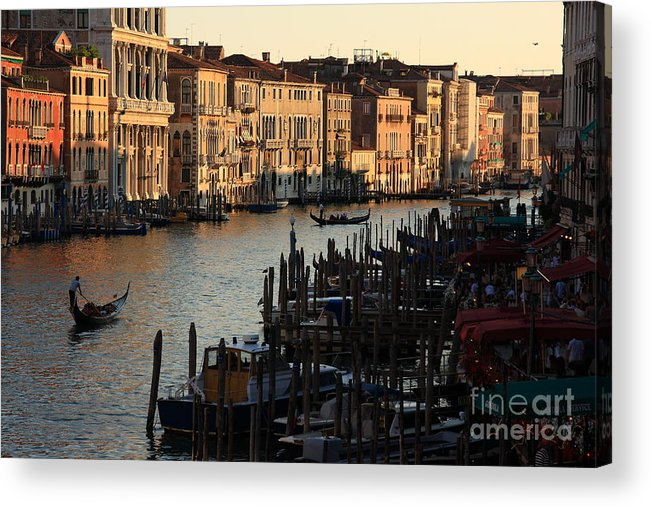 Venice Acrylic Print featuring the photograph Grand Canal In Venice From The Rialto Bridge by Michael Henderson
