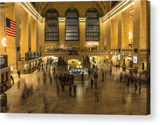 Grand Central Station Acrylic Print featuring the photograph Grand Central Station by Martin Newman
