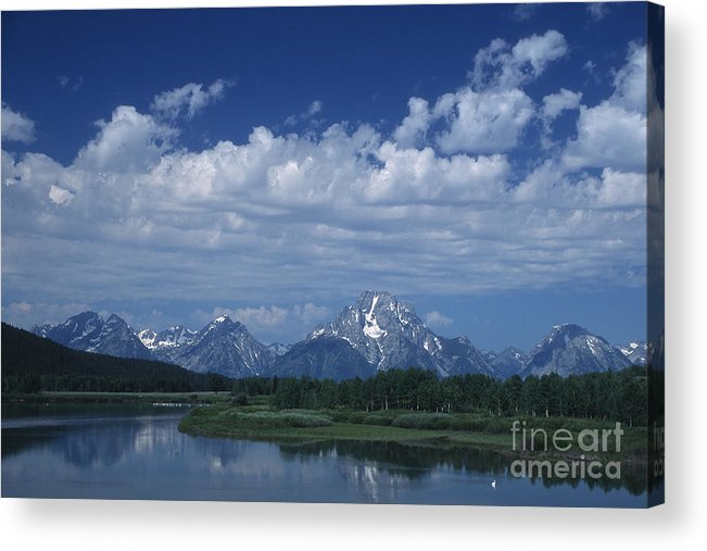 Wyoming Acrylic Print featuring the photograph Grand Tetons In Spring by Stan and Anne Foster