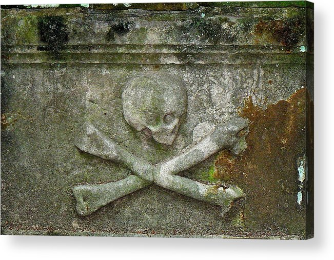 Grave Acrylic Print featuring the photograph Grave Business 2 by Robert Joseph