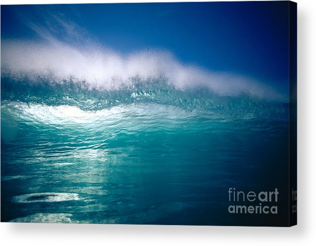 Backlit Acrylic Print featuring the photograph Green Wave by Vince Cavataio - Printscapes