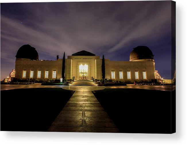 Night Acrylic Print featuring the photograph Griffith Observatory by Robert Aycock