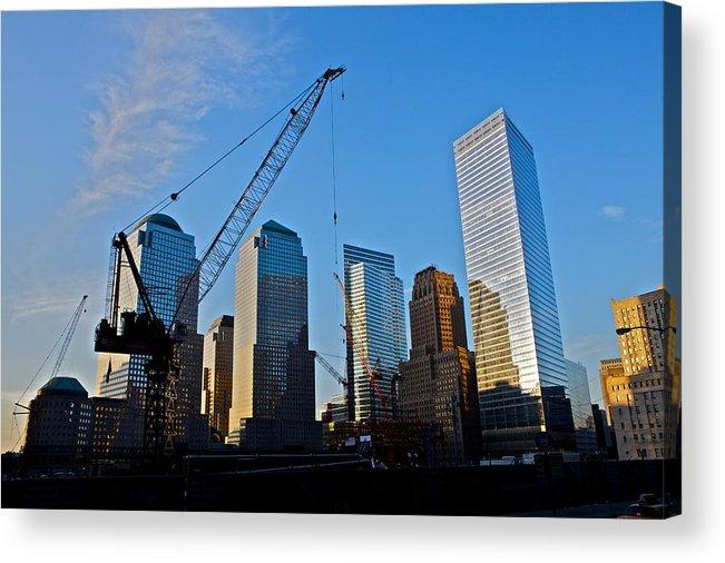 New York Acrylic Print featuring the photograph Ground Zero - Nyc - by Miranda Miranda