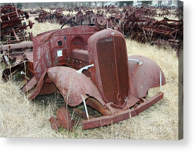 Chevrolet Acrylic Print featuring the photograph Grounded Chevy by Joy Tudor