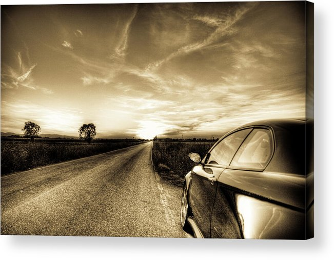 Hdr Acrylic Print featuring the photograph Gt Sunset by Andrea Barbieri