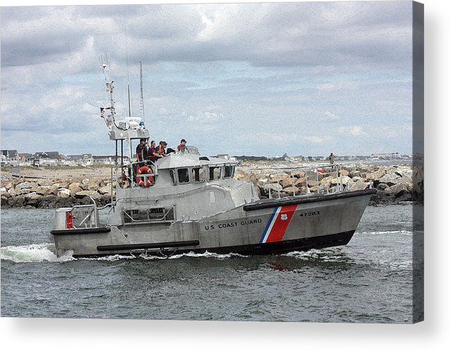 Coast Guard Acrylic Print featuring the photograph Guarding The Coast by Mary Haber