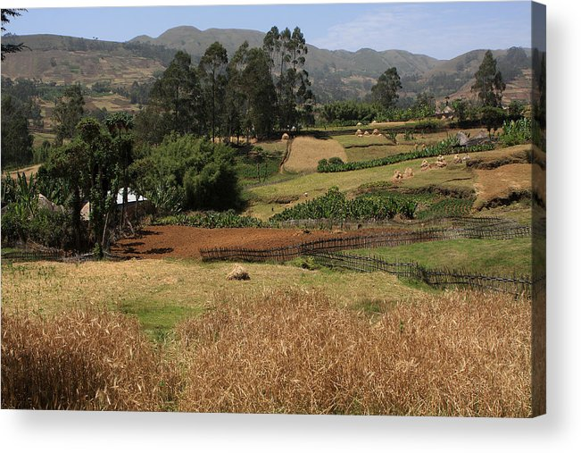 Landscape Acrylic Print featuring the photograph Guge Mountain Range Southern Ethiopia by Aidan Moran