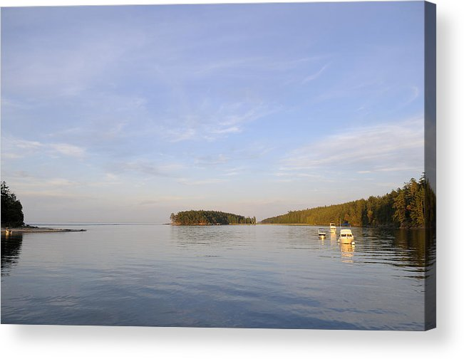 Gulf Islands Acrylic Print featuring the photograph Gulf Islands Boating by Kevin Oke