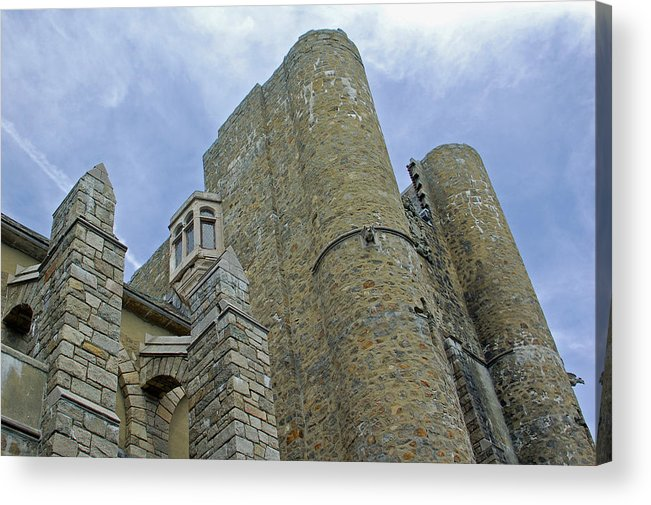 Hammond Castle Acrylic Print featuring the photograph Hammond Castle Detail - Gloucester Ma by Suzanne Gaff