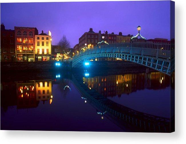 Bridge Acrylic Print featuring the photograph Hapenny Bridge, Dublin, Ireland by The Irish Image Collection