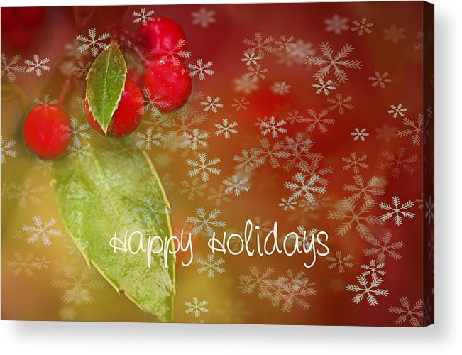 Christmas Acrylic Print featuring the photograph Happy Holidays by Rebecca Cozart
