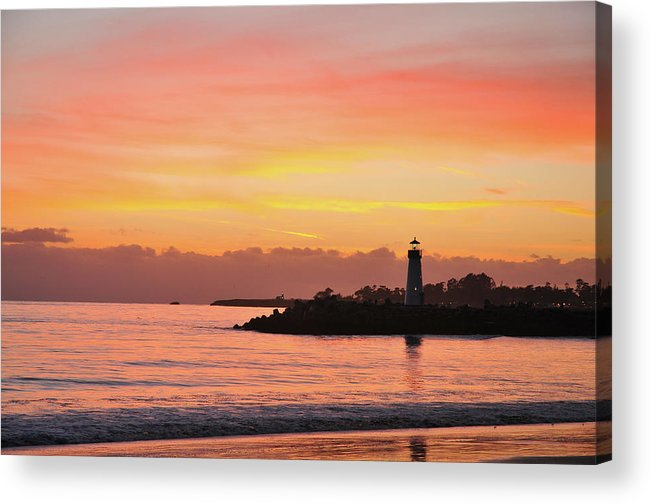 Beach Acrylic Print featuring the photograph Harbor Sunset by John Finch